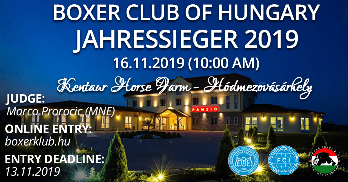 Boxer Club of Hungary Jahressieger 2019